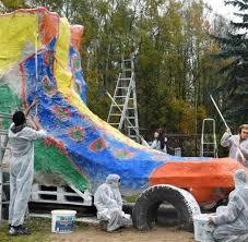 Bad Lausik Riesenrollschuh In Bad Lausick Fertiggestellt Welt