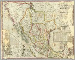 States Of Mexico Map by Map Of The United States Of Mexico Tanner Henry S 1826