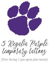 tiger paw temporary purple set of 5 tigers and