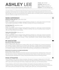 Easy Resume Samples by Examples Of Resumes Resume Template Creative Word Profile Within