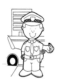 police officer coloring pages free printable policeman coloring