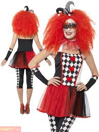 ladies clown halloween costumes ladies twisted harlequin costume jester halloween fancy