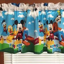 mickey mouse window curtains valances grand depiction friends