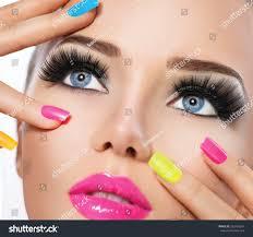 beauty portrait vivid makeup colorful stock photo 239166247