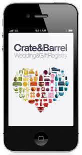 wedding registry app crate and barrel launches wedding gift registry app home