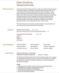 Financial Analyst Resume Samples by 25 Finance Resumes In Pdf Free U0026 Premium Templates