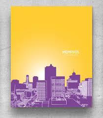 memphis tennessee skyline cityscape home decor art poster