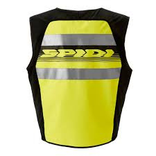motorbike vest spidi hv vest vests protection yellow body protections spidi