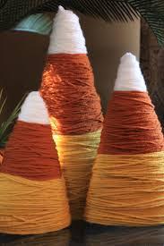 diy fall decorations candy corn yarns and decoration