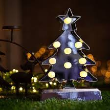 christmas tree shaped lights festivaldepot marquee light with tree shape 9 table l products