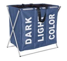 Light And Dark Laundry Hamper by Epsom Bathrooms Limited Wenko Triple Laundry Sorter Dark Blue