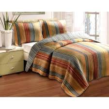 Blue Striped Comforter Set Blue Striped Comforter Sets Striped Quilts And Coverlets Quilting