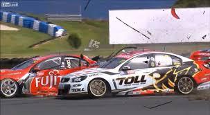 v8 supercars crashing in slow motion is beautifully destructive