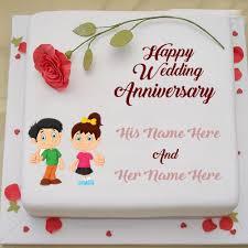 wedding wishes cake wedding anniversary cake greetings write your name on anniversary