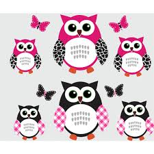 owl wall art roselawnlutheran pink and black owl wall art with butterfly decals for walls for girls