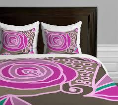 deny designs paula ogier rose 2 duvet cover queen sized