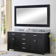 Vanity Framed Mirrors Water Creation Madison 72 Madison 72 Solid White Double Sink