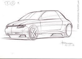 3 4 car sketch tutorial in 3 steps by luciano bove u2013 www