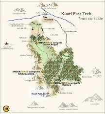 Himalayan Mountains Map Kuari Pass Trek Trek The Indian Himalayas Indiahikes