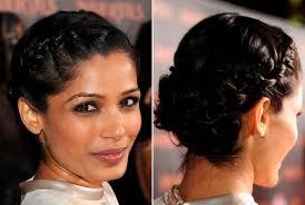 images of french braid hair on black women classic french braid hairstyles freida pinto formal hair medium