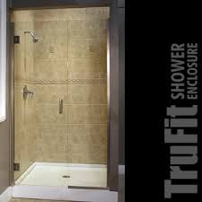 Diy Frameless Shower Doors Trufit Diy Shower Door And Panel Shower Door Store