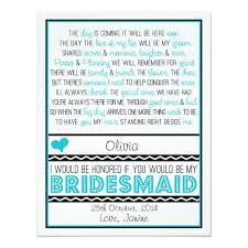 will you be my bridesmaid poems will you be my bridesmaid blue black poem niece card zazzle
