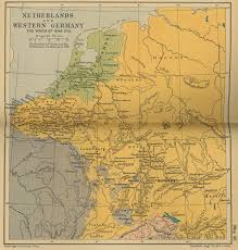 Map Of Nd Of The Netherlands And Western Germany 1648 1715