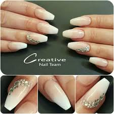 french fade ballerinas with gems acrylic nails for ty