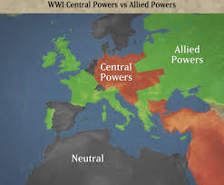 World War I Alliances Map by Causes World War I Global Chaos