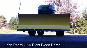 john deere x300 snow blade demo hd youtube