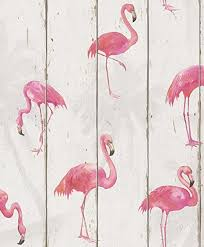 wallpaper with pink flamingos flamingo wood panel wallpaper pink amazon co uk diy tools