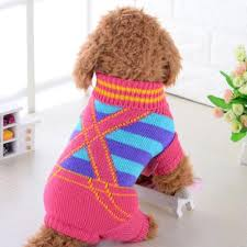 Sweater Pajamas Jumpsuit Winter Striped Dummy Straps Pet Sweater Puppy Cat