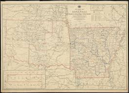 Louisiana Mississippi Map by Post Route Map Of The State Of Arkansas And Of Indian And Oklahoma