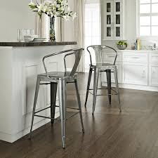cafe bar stools crosley cf500730 ga amelia indoor outdoor metal cafe bar stool w