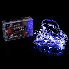 copper wire lights battery blue 3 aa battery operated led string lights