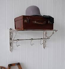 chrome luggage rail as a coat rack an elegant vintage style shelf