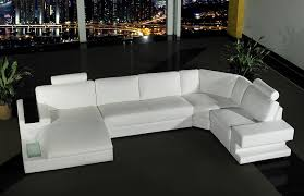 Contemporary White Leather Sectional Sofa by Contemporary White Leather Sectional Sofa Bed Furniture