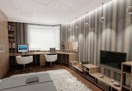 Schlafzimmer Arbeitszimmer Ideen Wohnzimmer Mit Arbeitsplatz Bereich Und Design Büro Ein Zimmer