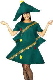 smiffy u0027s women u0027s christmas tree costume tunic u0026 hat size s
