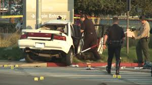 bank robbery suspect killed in crash after police chase in anaheim