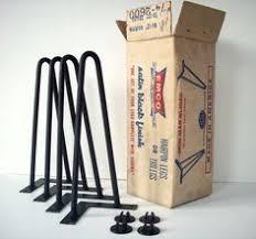 vintage hairpin table legs hairpin table leg 12 raw 3 rod hairpin leg by balasagun on etsy