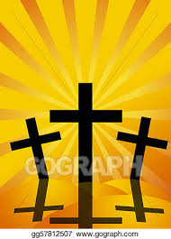 drawing friday easter day crosses sun rays background