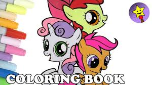 cutie mark crusaders coloring book page my little pony sweetie