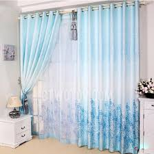 blue shinning color bedroom room divider curtains