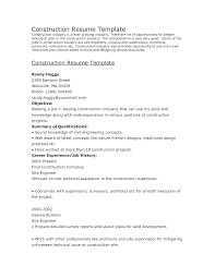 Resume Of Construction Worker Industry Resume Objective Sidemcicek Com