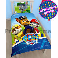 Childrens Bedroom Bedding Sets Paw Patrol Official Duvet Cover Sets Various Designs Kids Bedroom