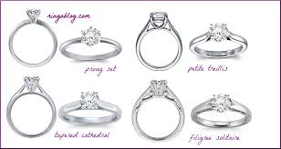 types of engagement rings enchanting engagement rings settings styles 60 on interior
