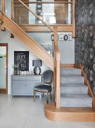 Glass Banisters For Stairs Modern Oak And Glass Staircases Jarrods Staircases