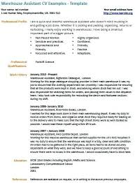 resume exles for warehouse this is cv resume exle warehouse assistant exle education