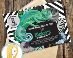 reptile invite etsy